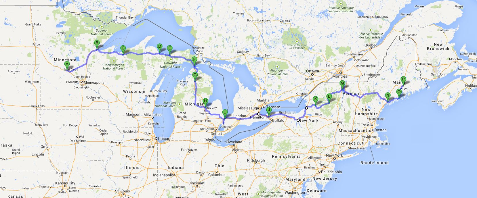 Cycling Ride The Eastern Half Of The US Miles - Map of eastern half of us